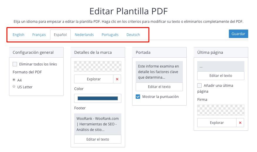 Crea Plantillas de Informes PDF – Centro de Ayuda